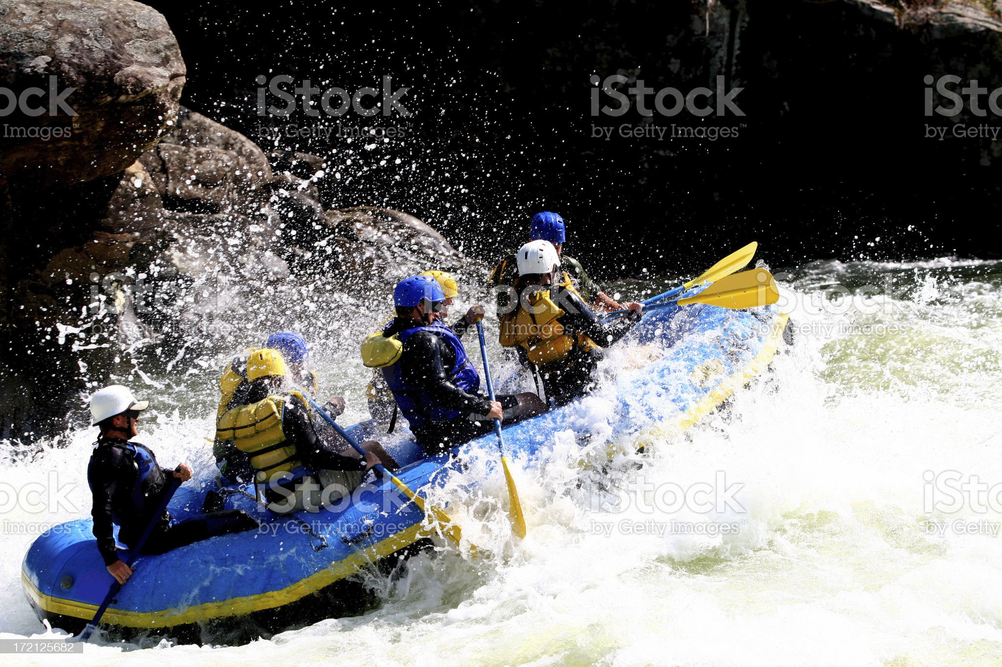 Whitewater Trip royalty-free stock photo