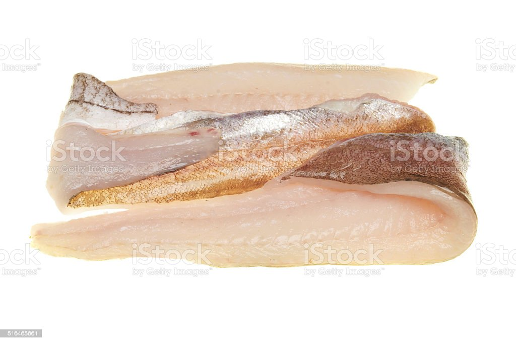 Whiting fillets stock photo