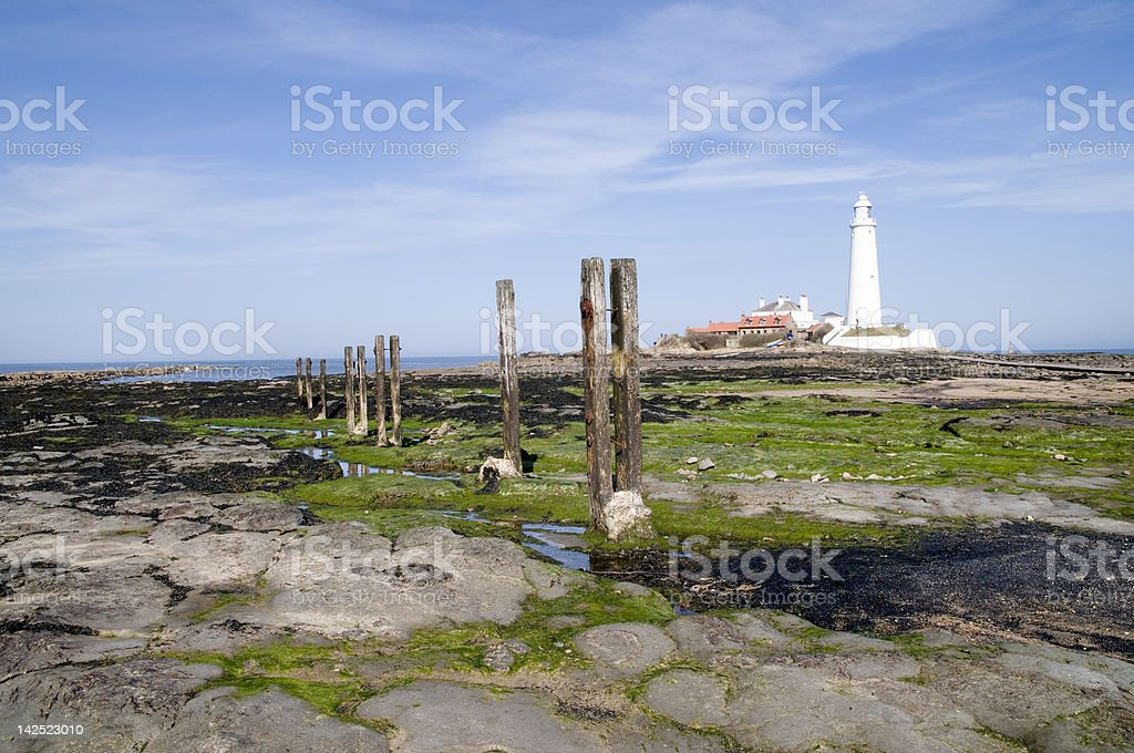 Whitley Bay Lighthouse royalty-free stock photo