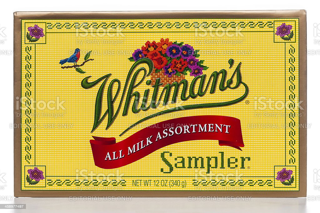 Whitman's all milk assorment chocolate sampler box royalty-free stock photo