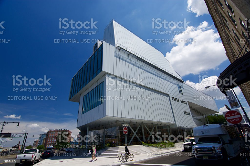 Whitney museum, High Line Manhattan on a sunny day stock photo