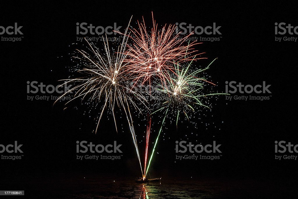 Whitstable fireworks royalty-free stock photo