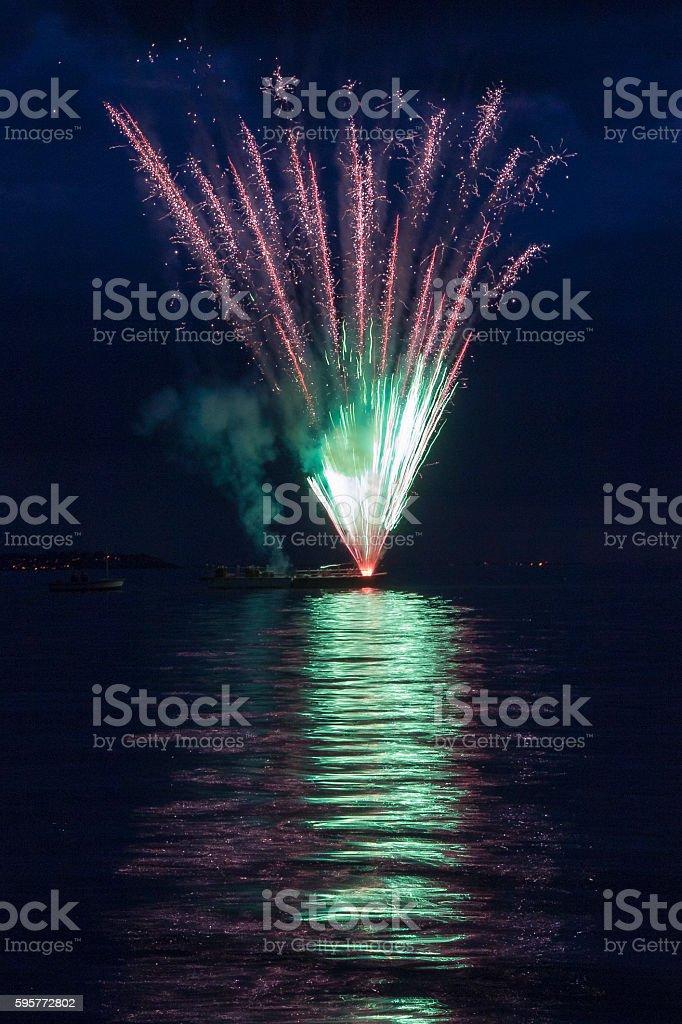Whitstable Fireworks stock photo