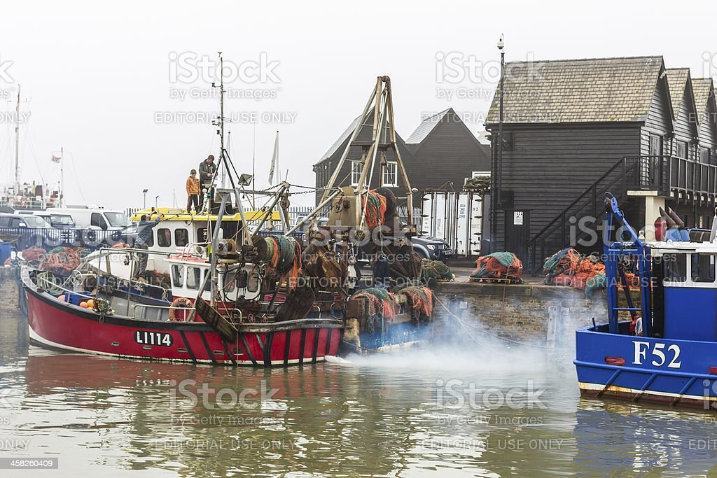 Whitstable Harbour. royalty-free stock photo