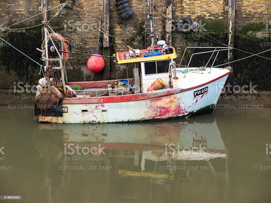 Whitstable, Kent, UK - Fishing Boat stock photo