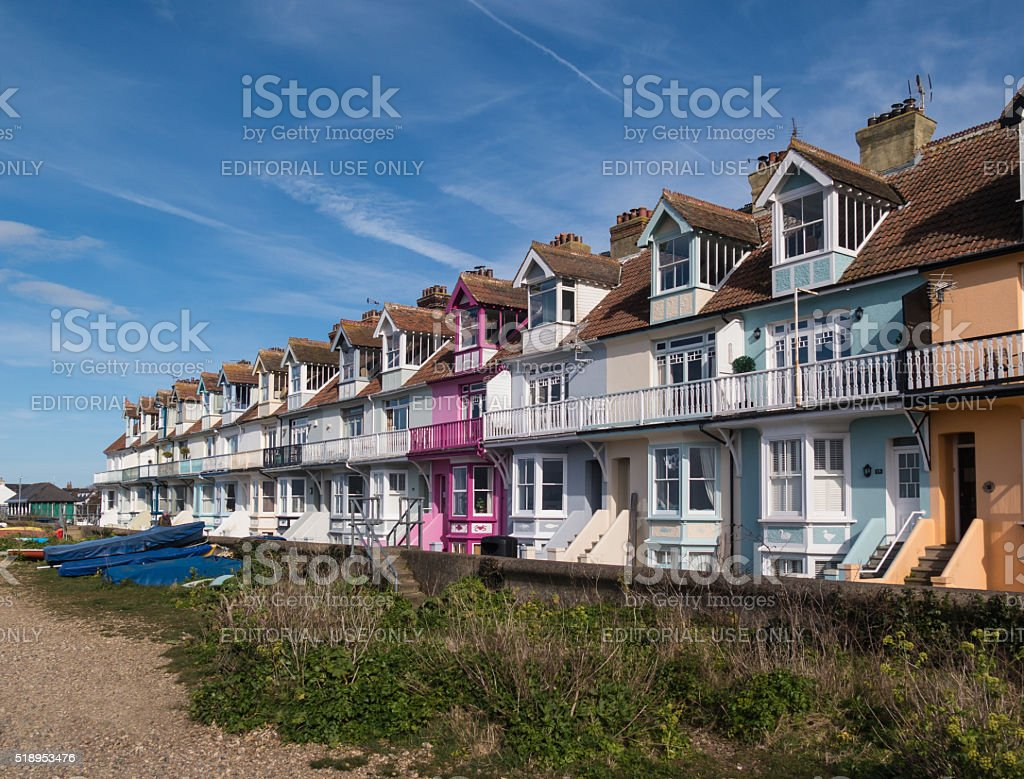 Whitstable, Kent, UK - Terrace houses stock photo