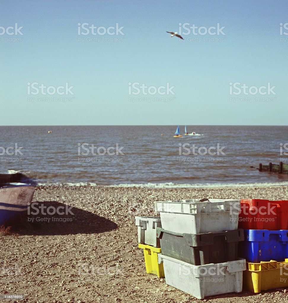Whitstable oysters - Local fishing industry stock photo