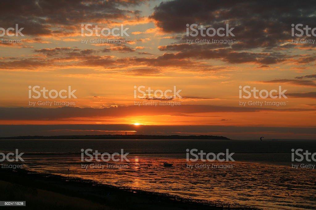 Whitstable Tankerton Sunset stock photo