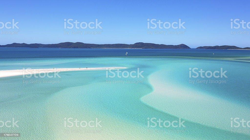 Whitsundays Whitehaven Beach stock photo