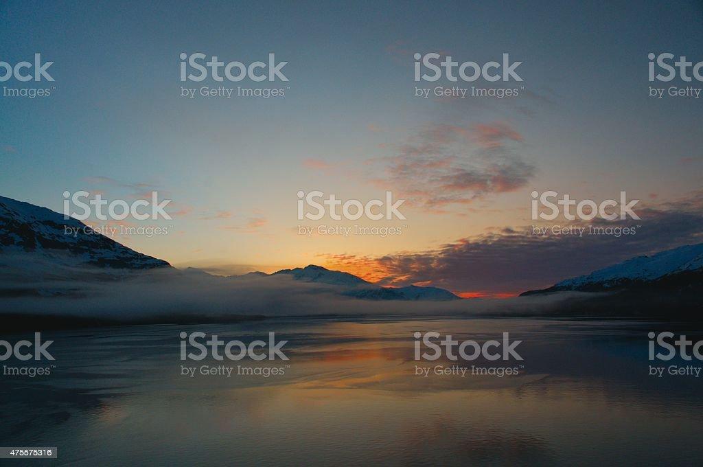 Whittier Harbor At Sunrise stock photo