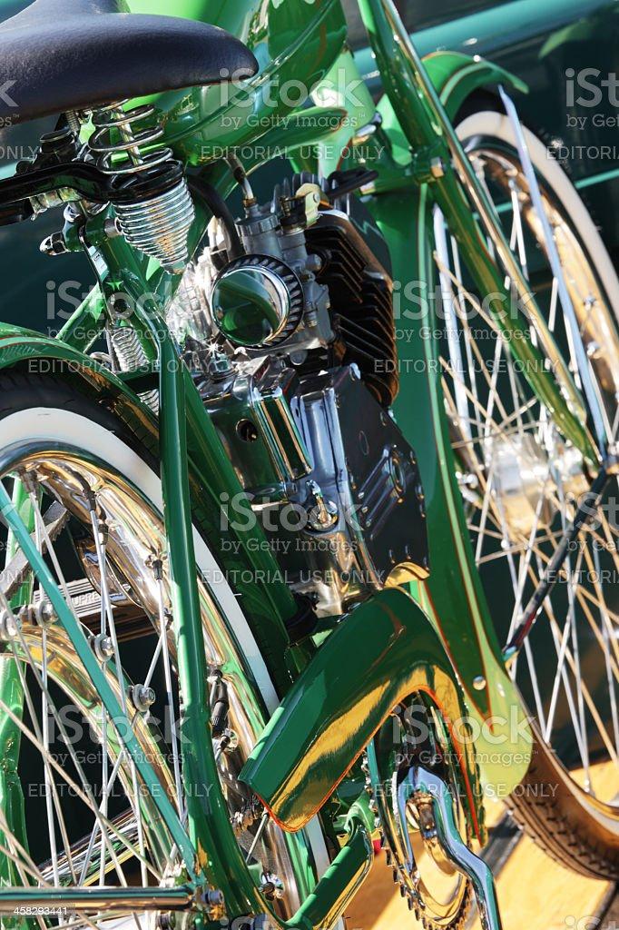 Whizzer Motorized Bicycle royalty-free stock photo