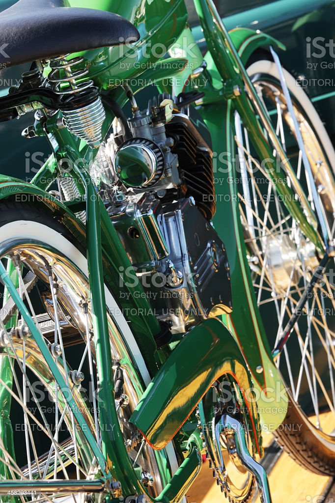 Whizzer Motorized Bicycle stock photo