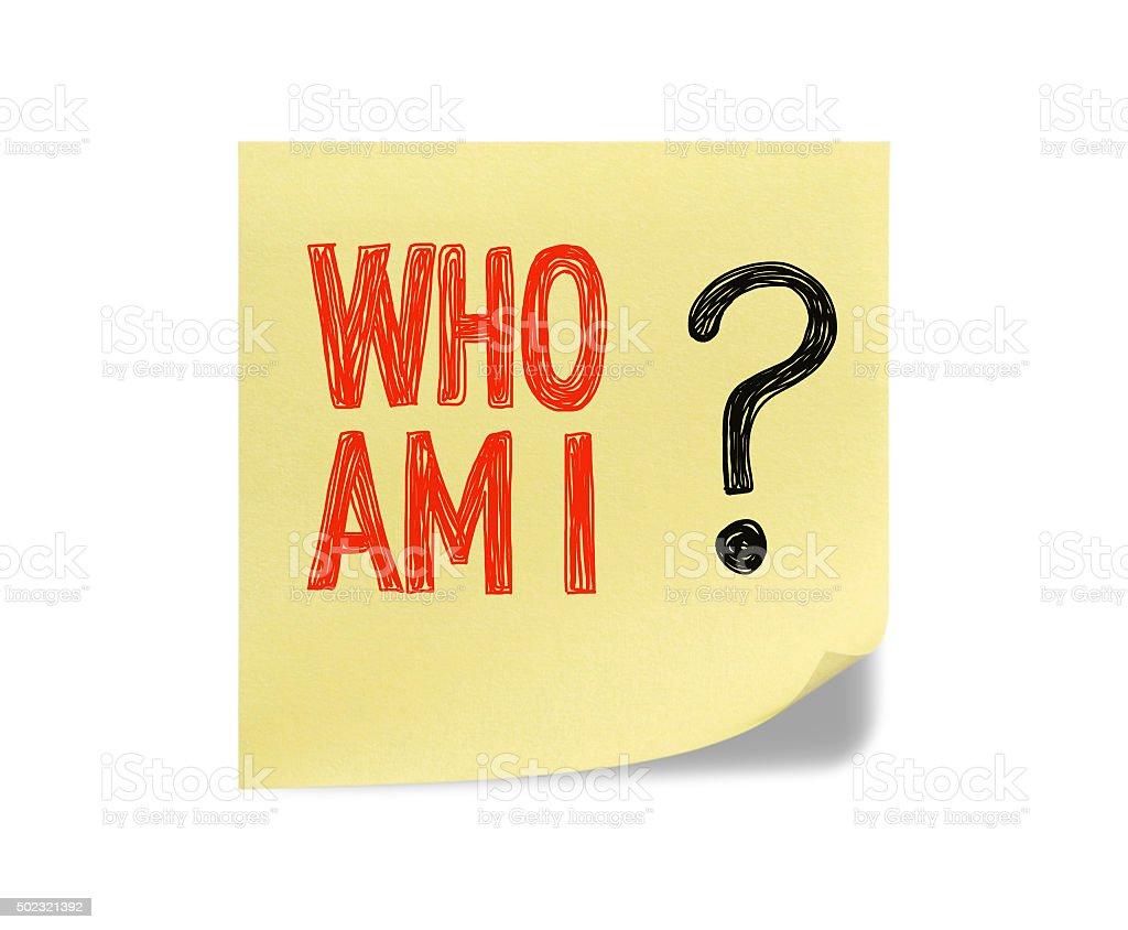 Who am i stock photo