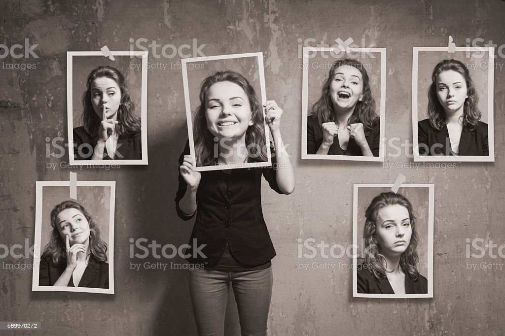 Who am I? stock photo