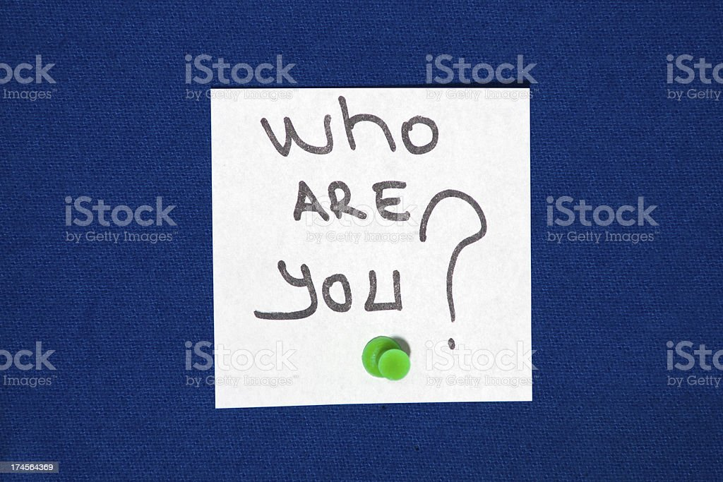 who are you royalty-free stock photo