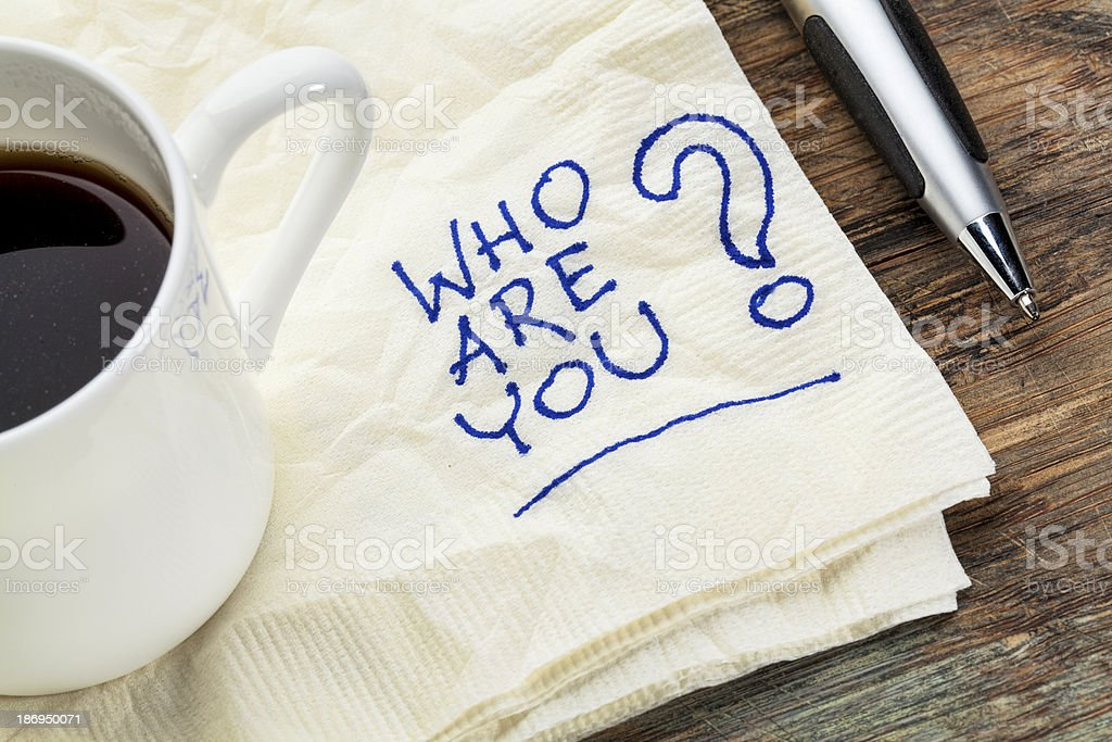 who are you question royalty-free stock photo