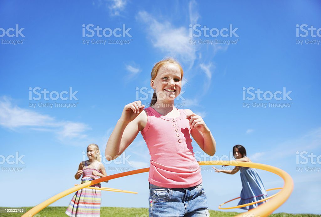 Who can hula the longest? royalty-free stock photo