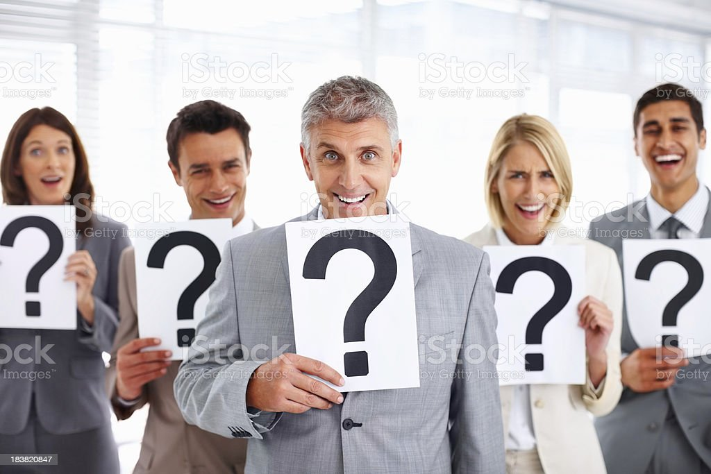 Who has the answer? royalty-free stock photo