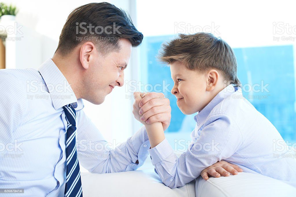 Who is stronger stock photo