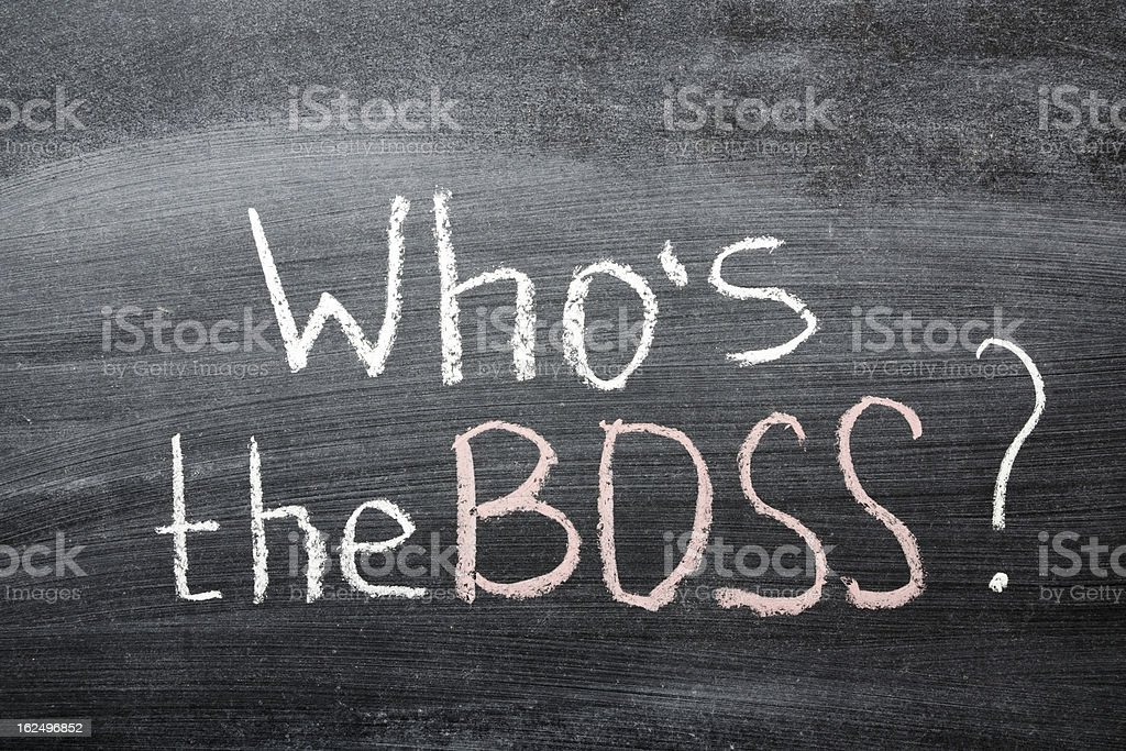 who is the Boss? royalty-free stock photo
