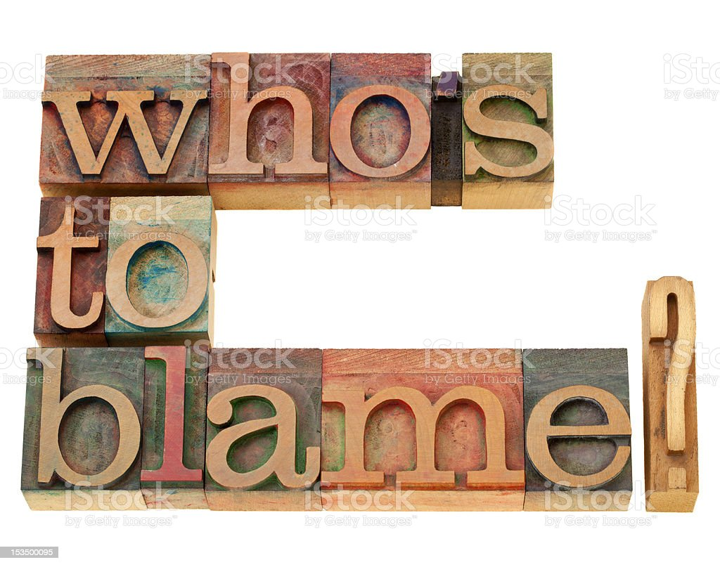 who is to blame question stock photo