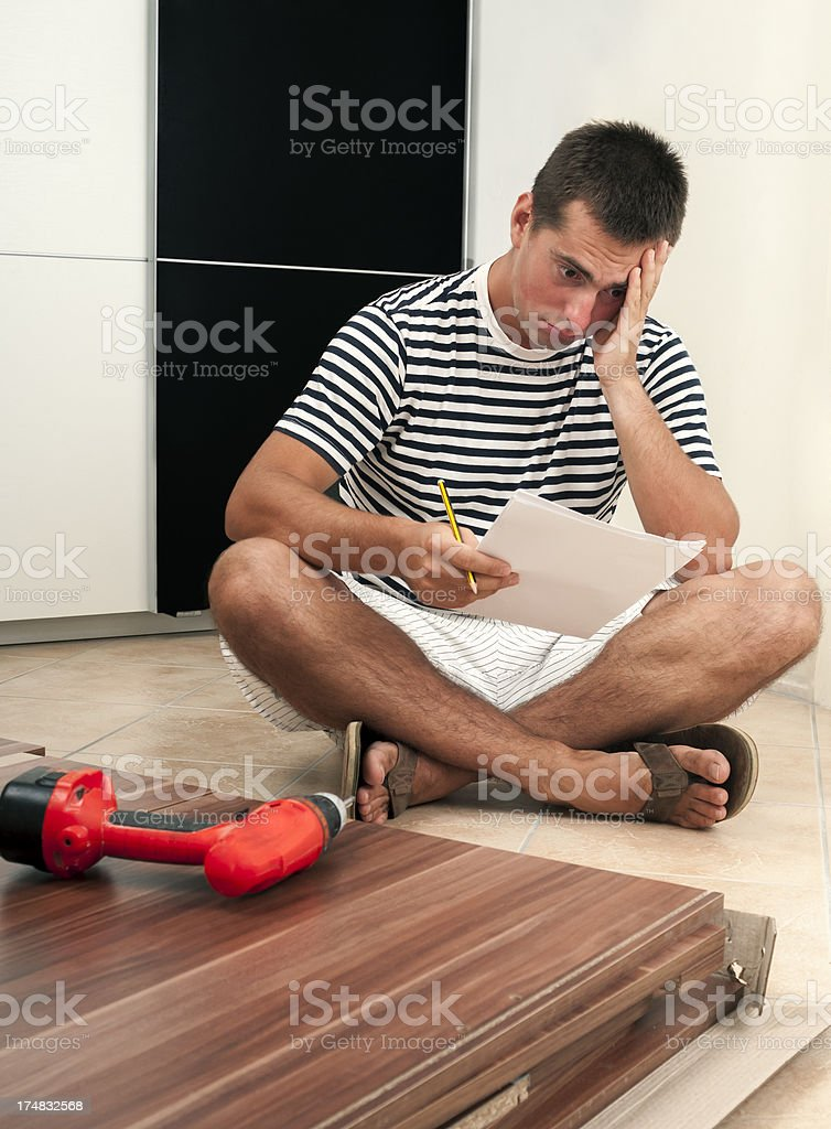Who know how assemble this table? stock photo