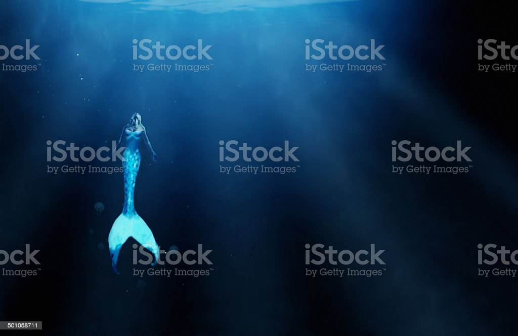 Who knows what the ocean depths hold? stock photo