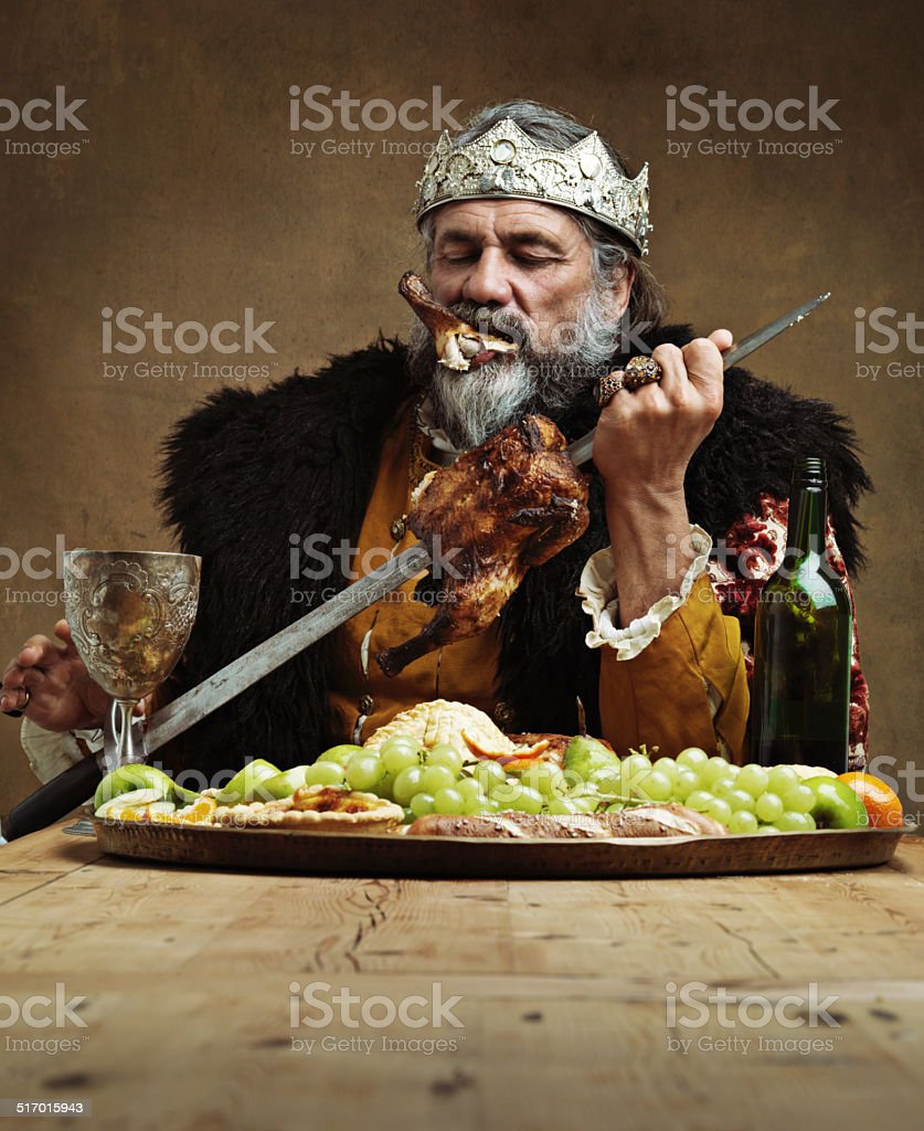 Who needs a knife when you have a sword? stock photo