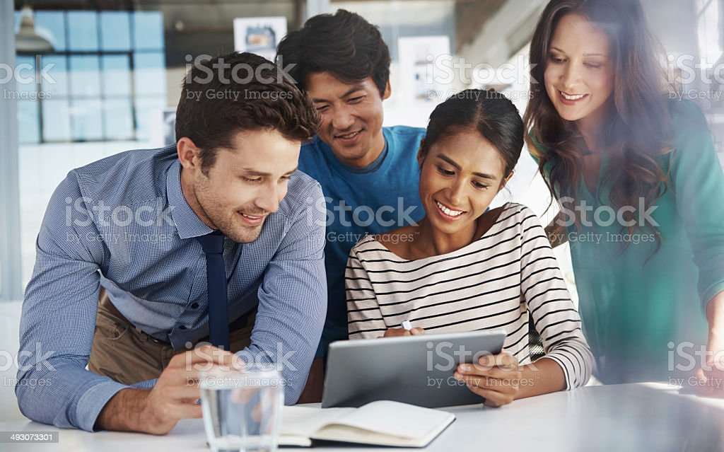 Who needs pens and paper? stock photo