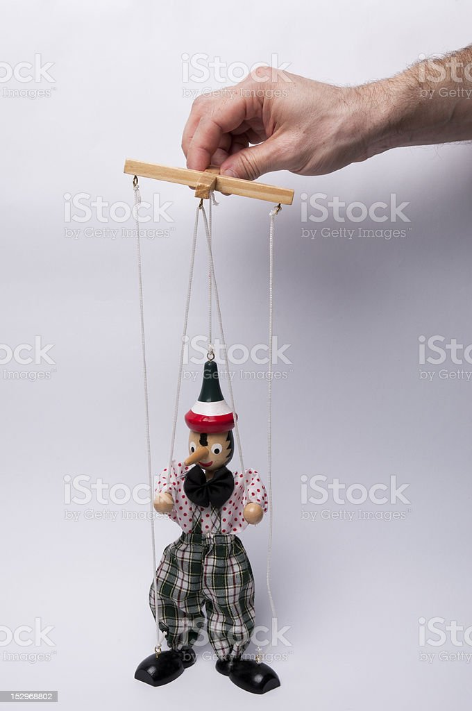 Who pulls the strings stock photo
