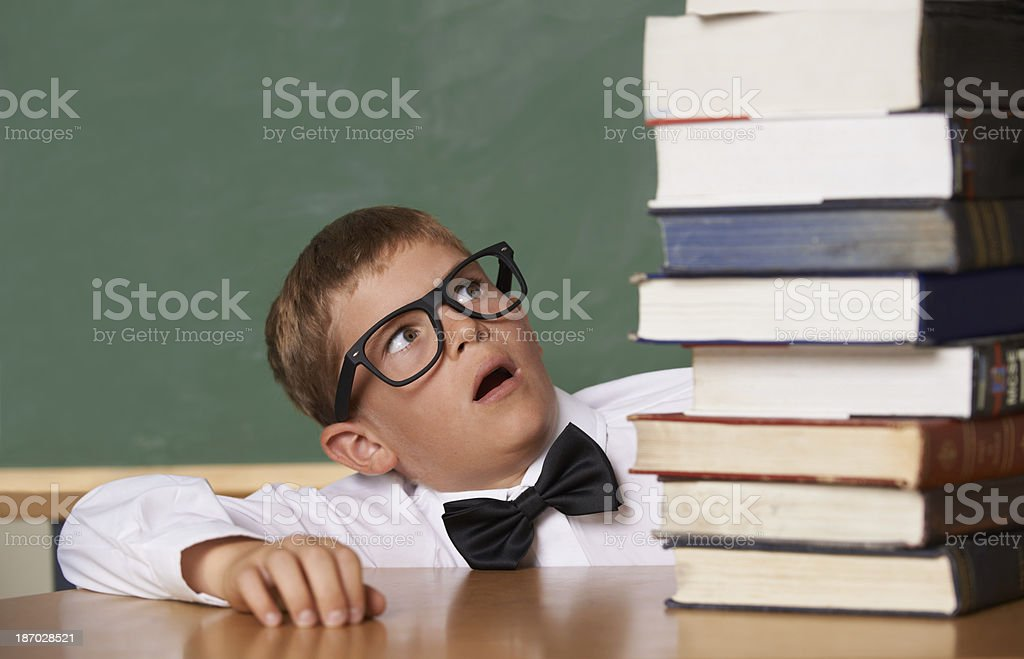Who said school is easy? royalty-free stock photo