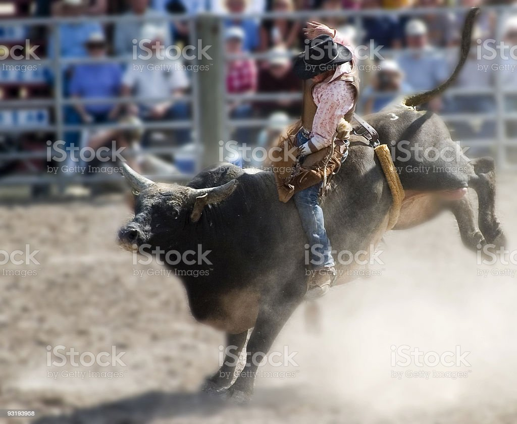 Who says cowboys can't wear pink? stock photo