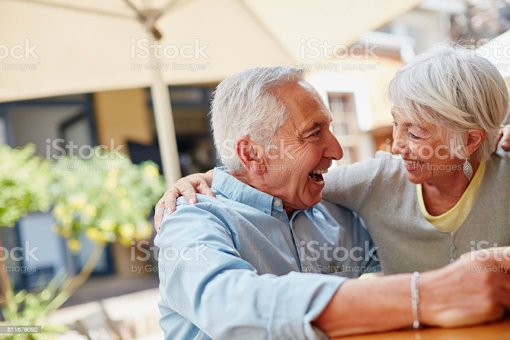 Who says fun is only for the young? stock photo