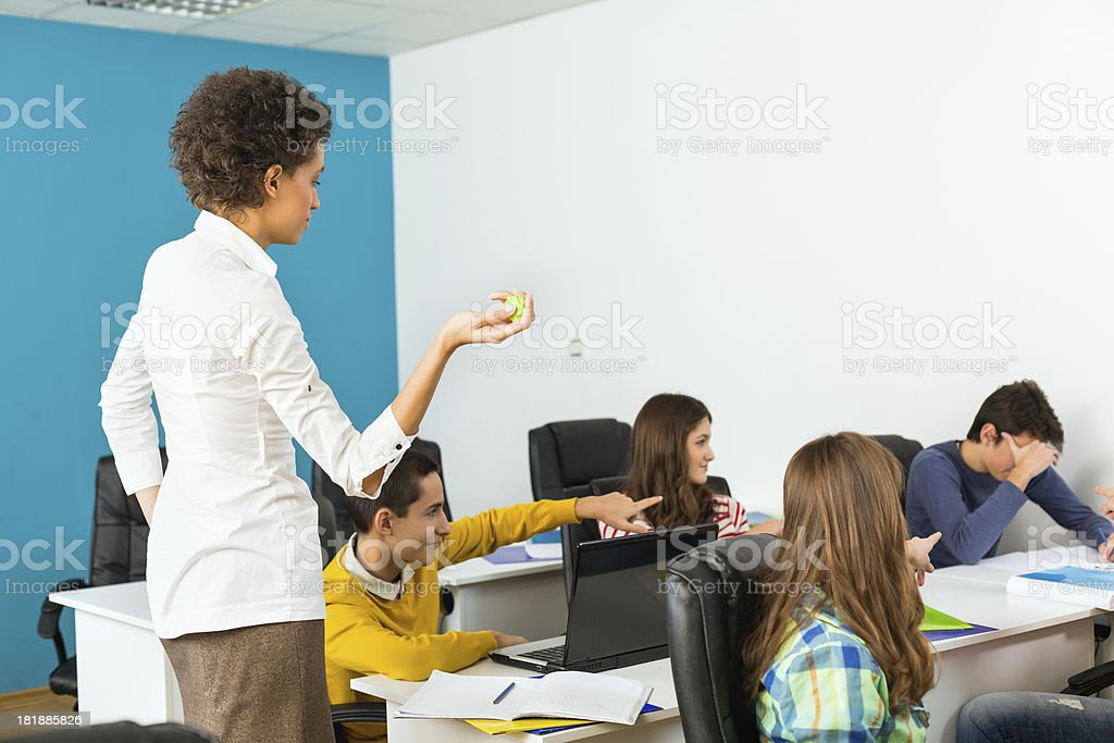 Who threw a paper ball royalty-free stock photo