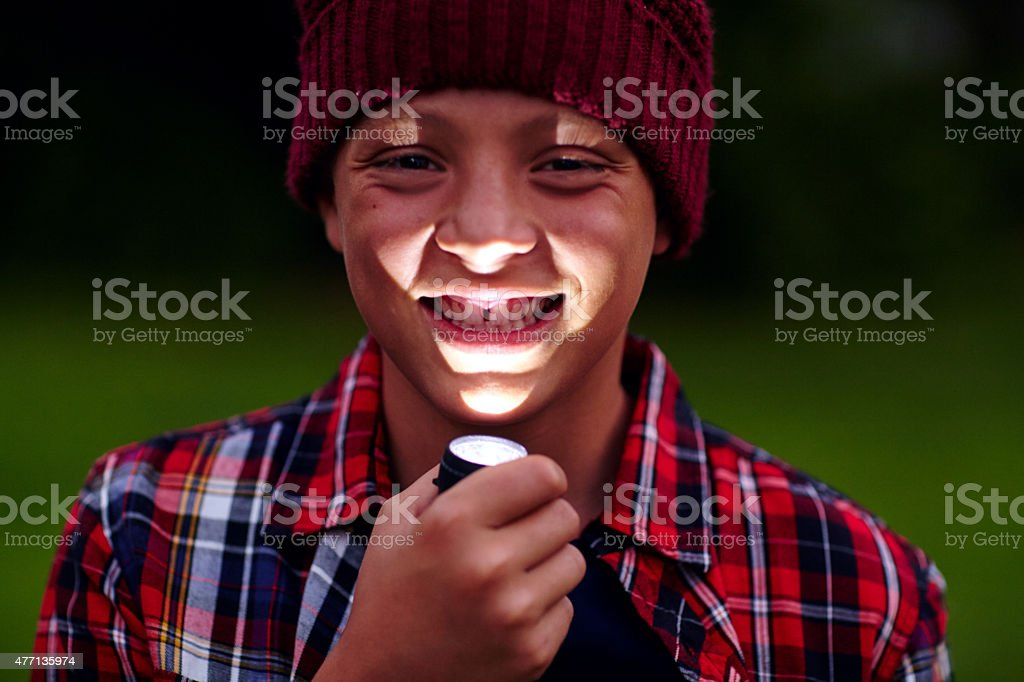 Who wants to hear a ghost story?! stock photo