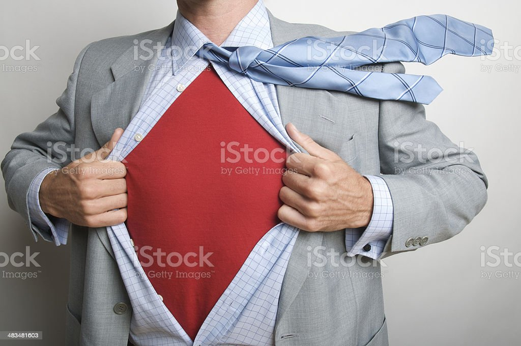 Who Was That Masked Business Man Superhero? stock photo