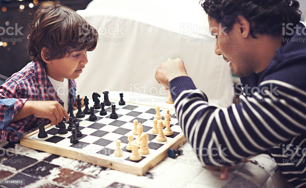 Who will be the chess champion? stock photo