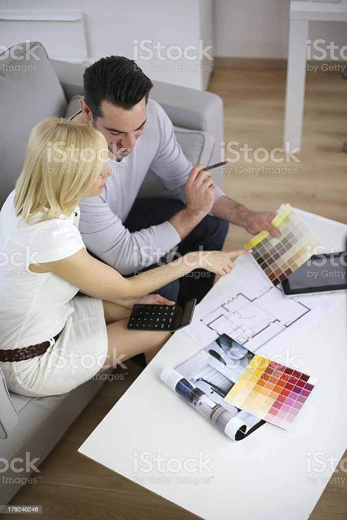 Who will choose the right color for house royalty-free stock photo