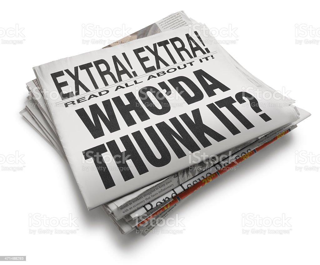 Who'da Thunkit? stock photo