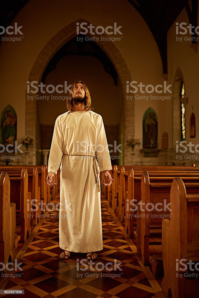 Whoever believes in Me has eternal life stock photo