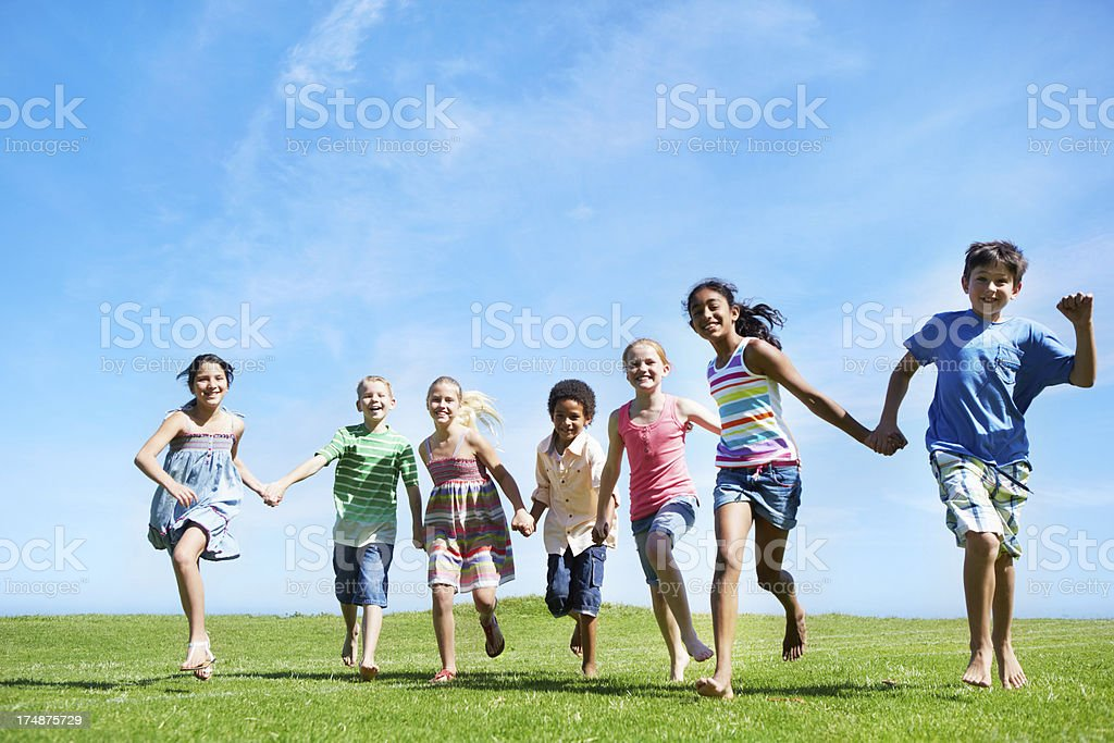 """Whoever lets go first is """"it""""! royalty-free stock photo"""