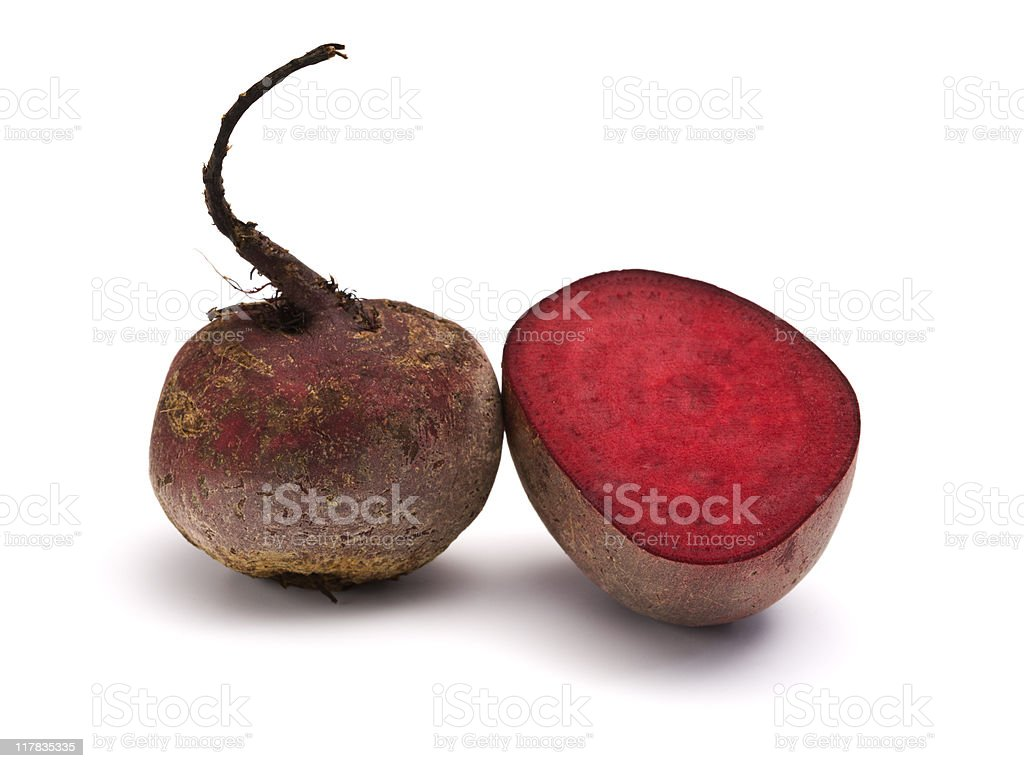 whole and half beet root royalty-free stock photo