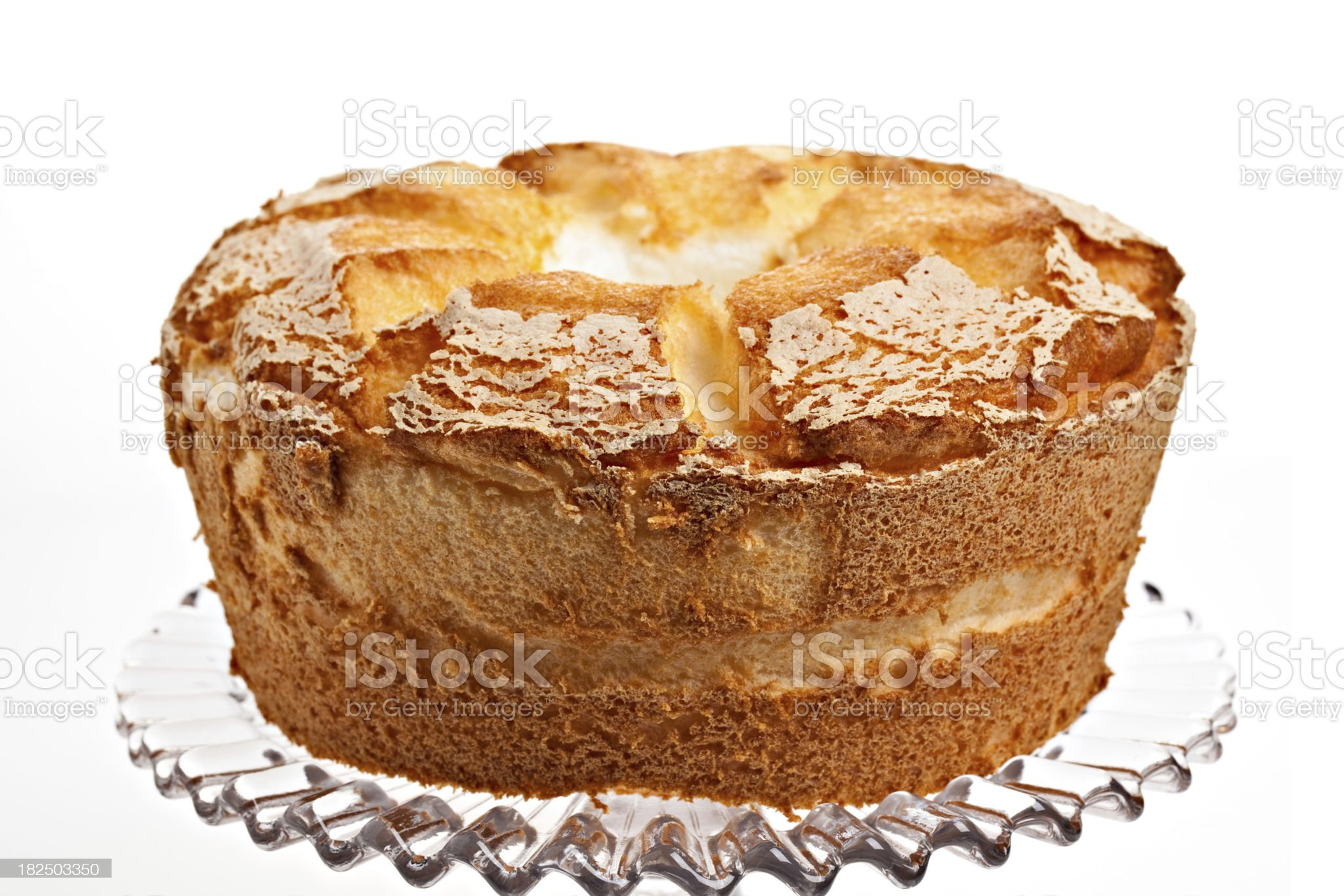 Whole Angel Food Cake royalty-free stock photo