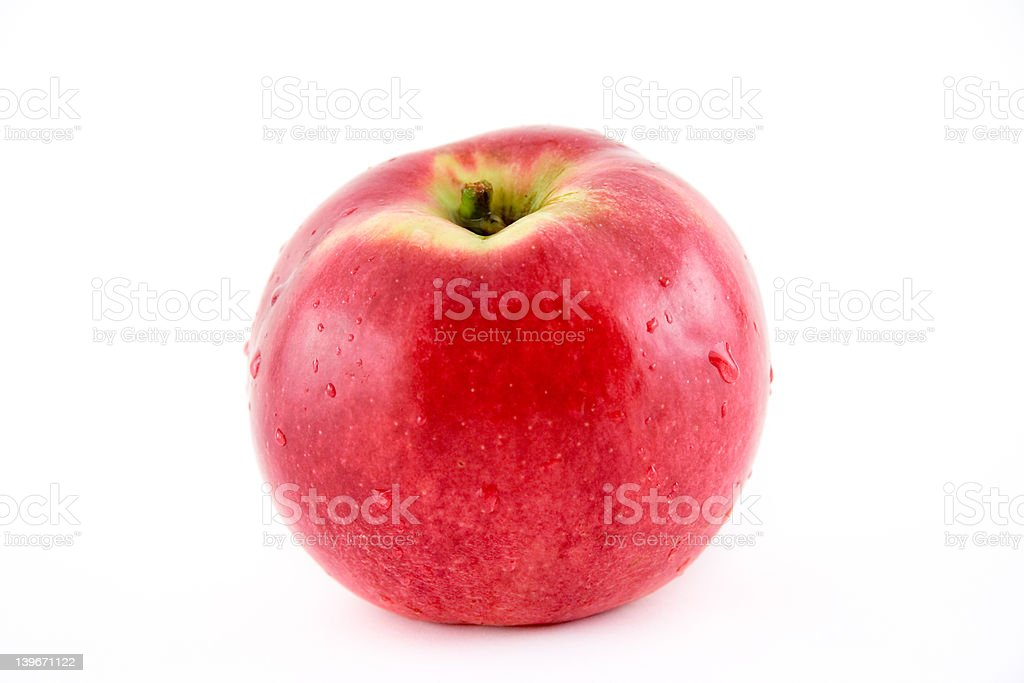 Whole apple royalty-free stock photo