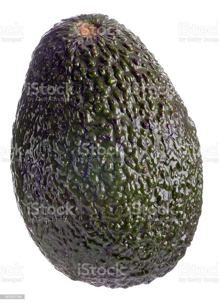 Whole avocado on white background stock photo