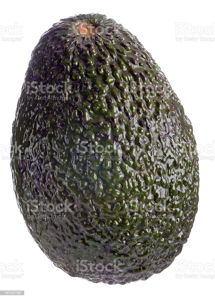 Whole avocado on white background stock photo