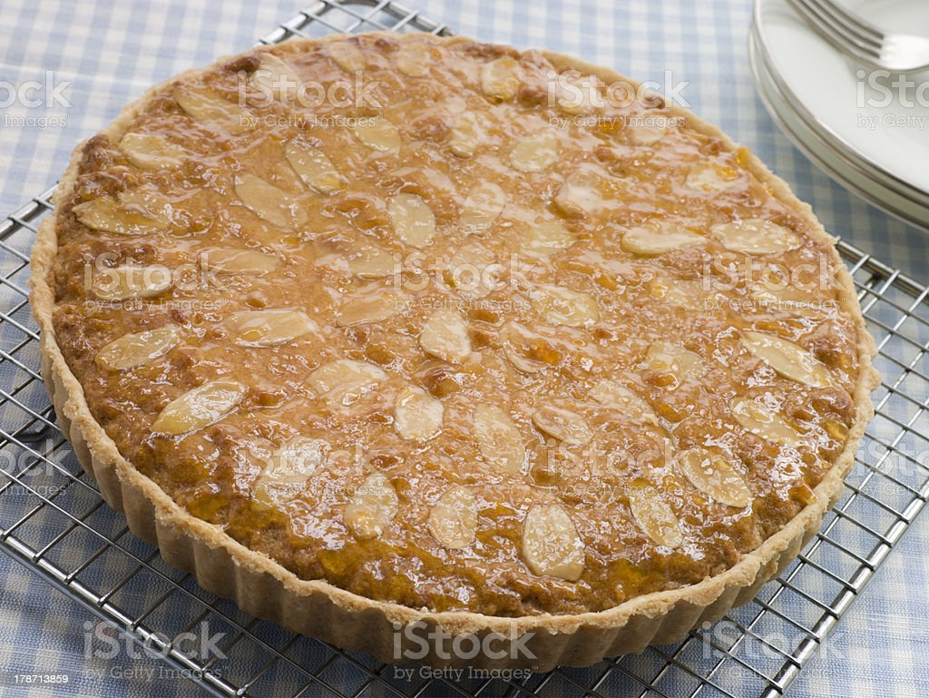 Whole Bakewell Tart stock photo