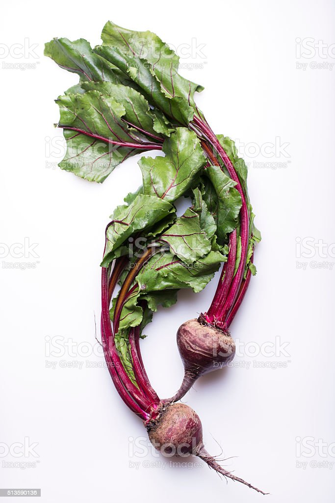 whole beetroots on white stock photo