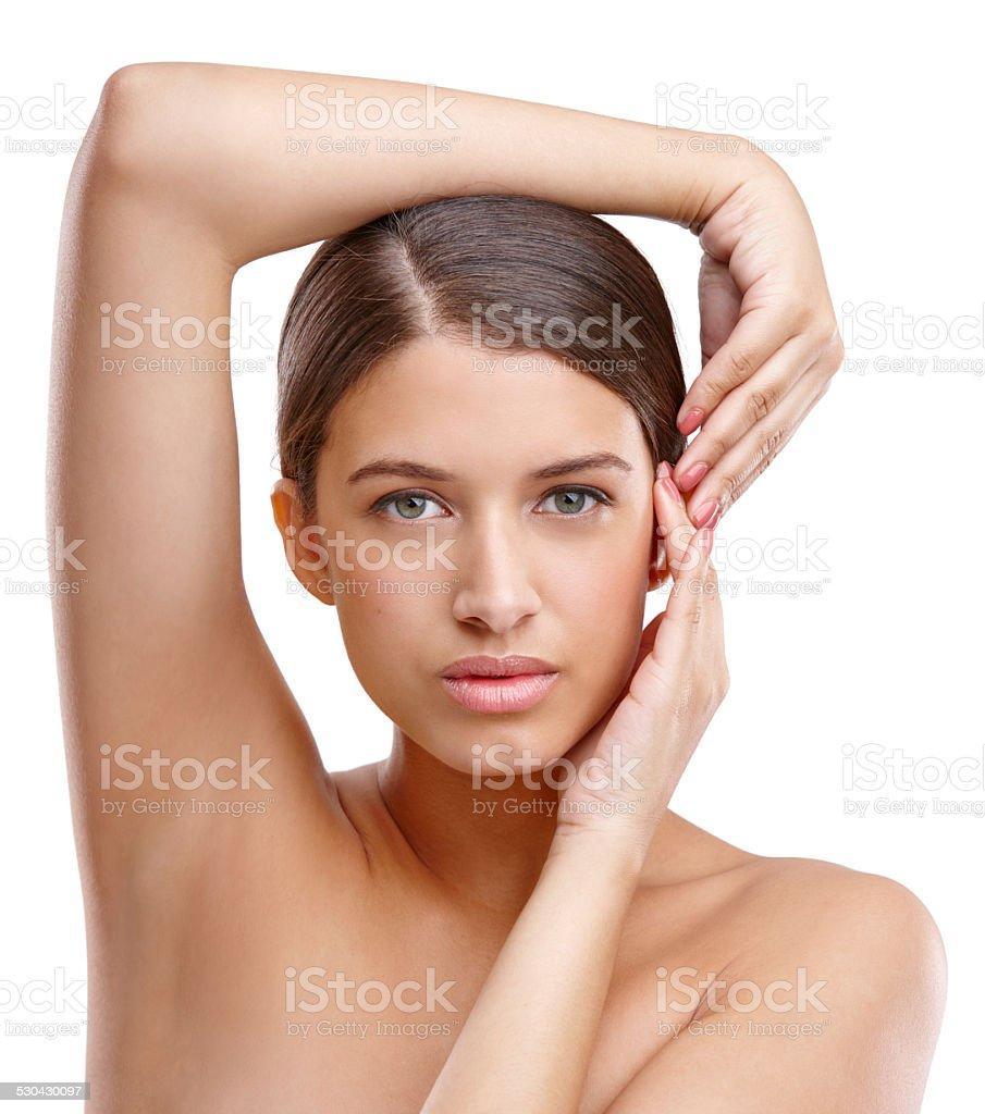 Whole body smoothness stock photo