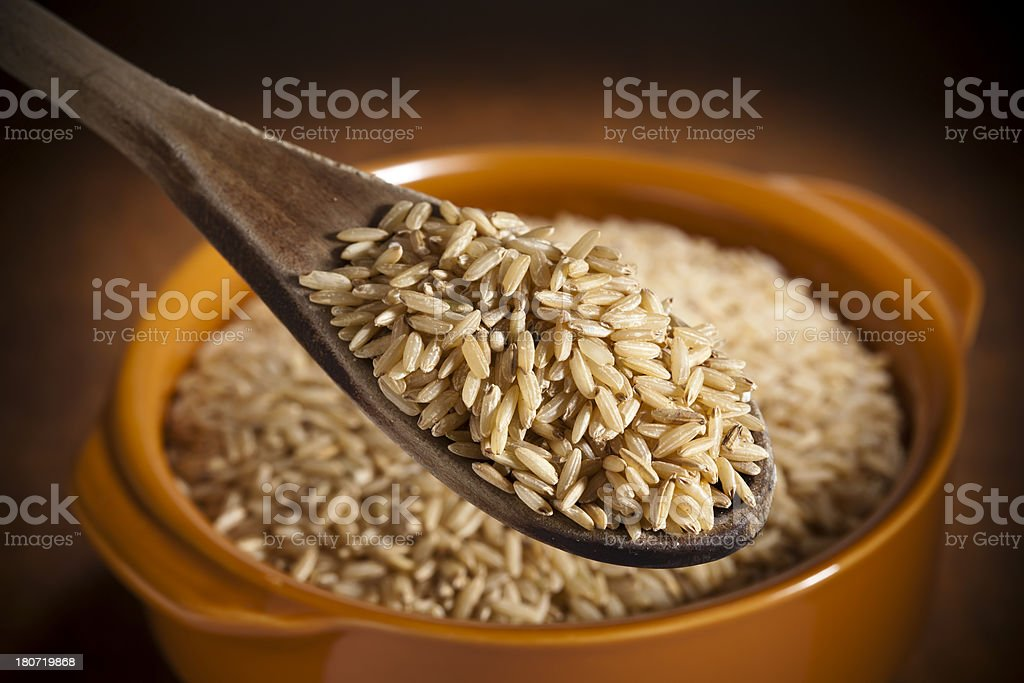 Whole Brown Rice royalty-free stock photo